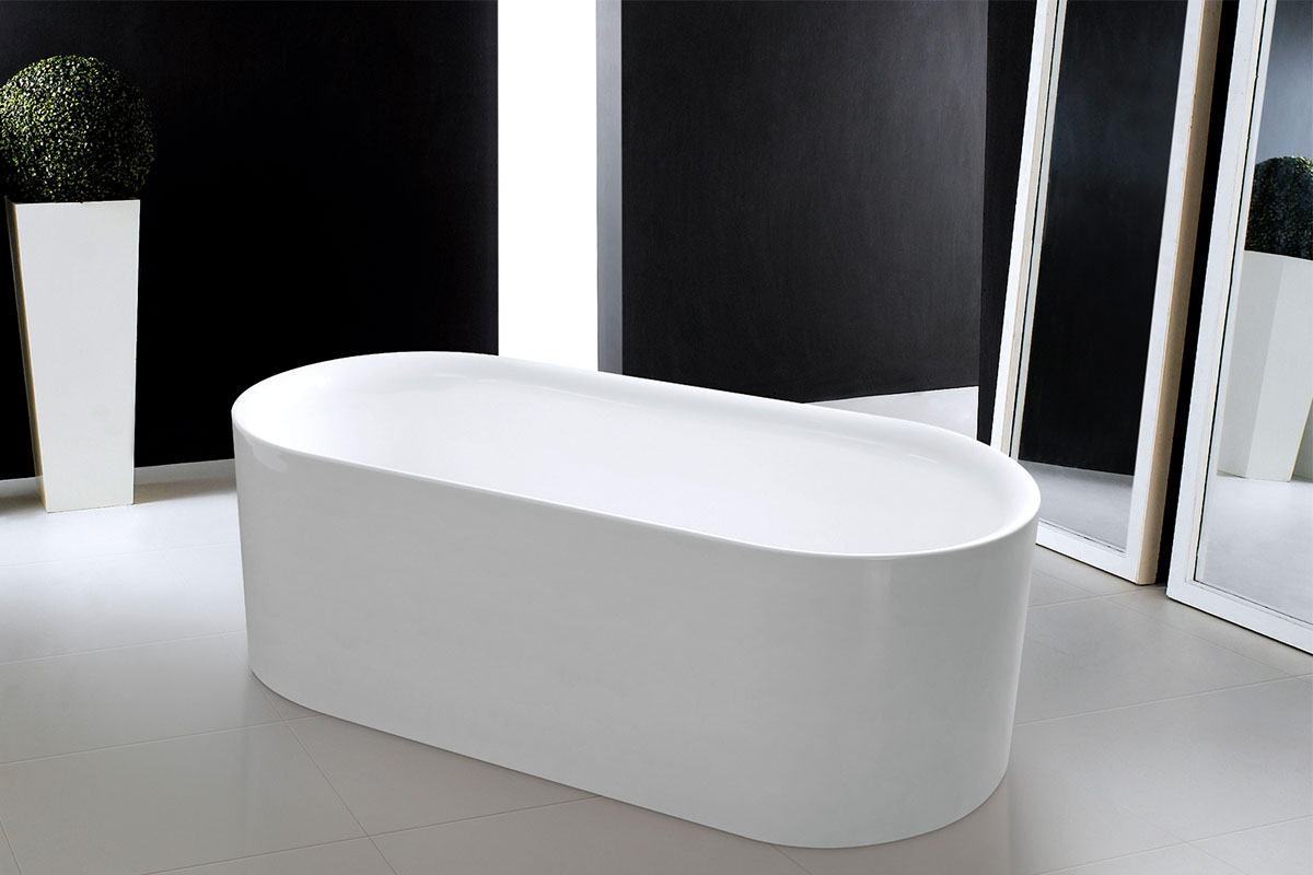 Indy oval freestanding bath eurotrend for Eurotrend bathrooms