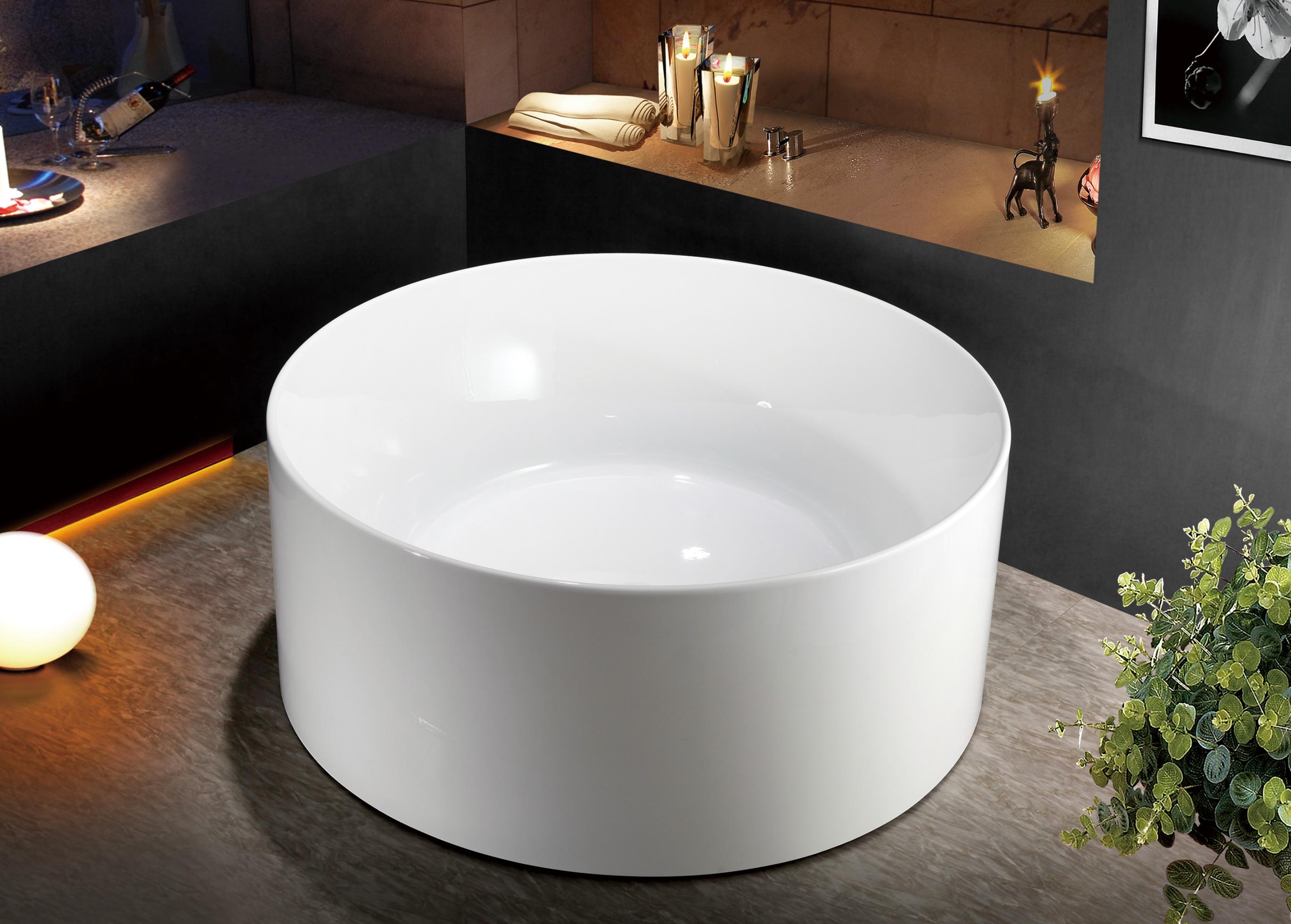 Round freestanding bath rondo bath eurotrend for Eurotrend bathrooms